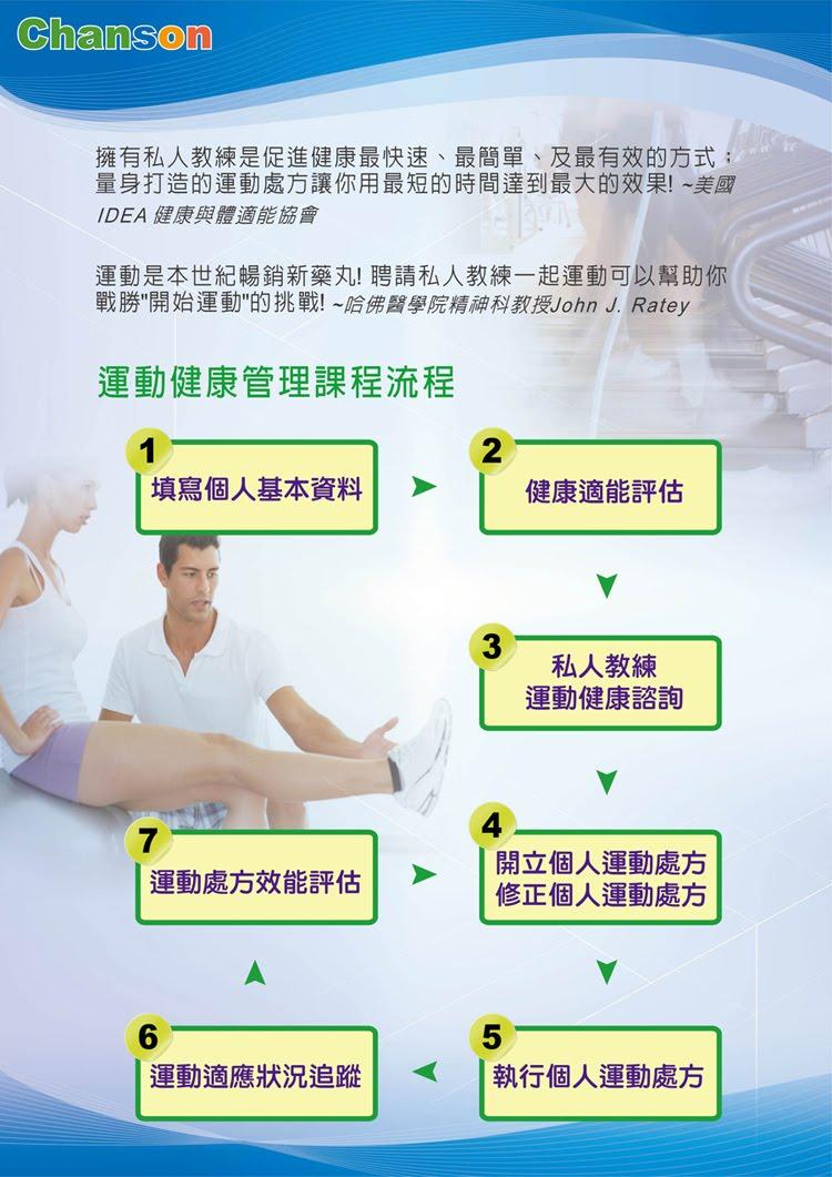強生運動健康管理課程流程